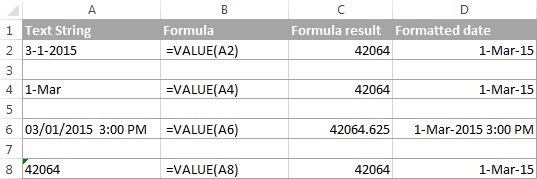 hàm excel VALUE