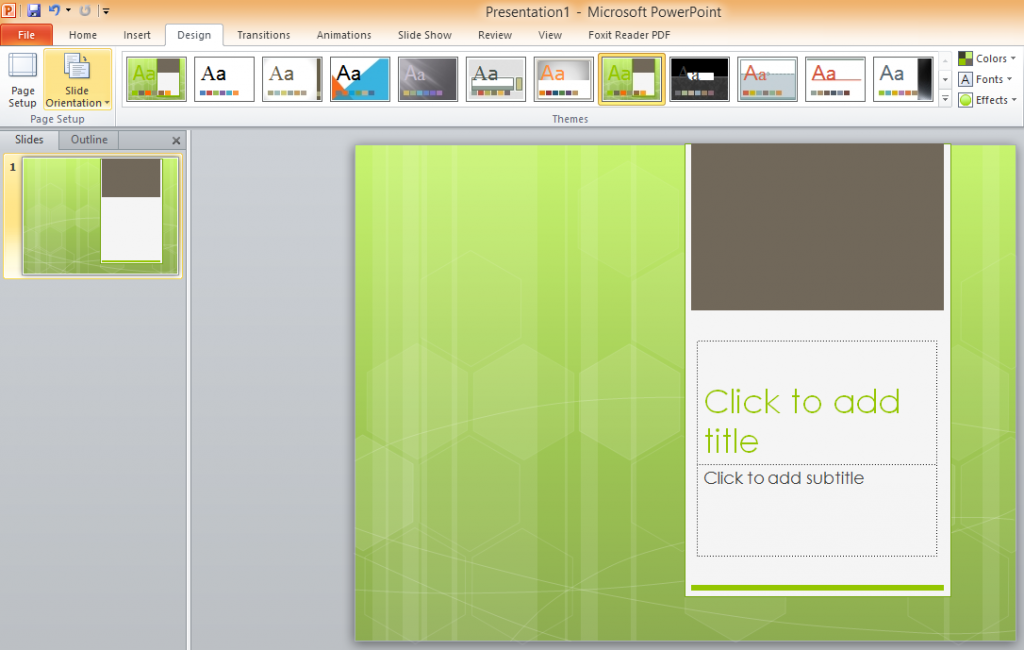 Tab Design trong powerpoint
